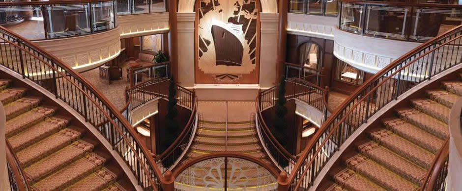 Cunard Queen Elizabeth Grand Lobby