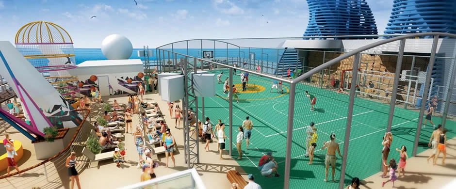 NCL Norwegian Epic Sports Deck