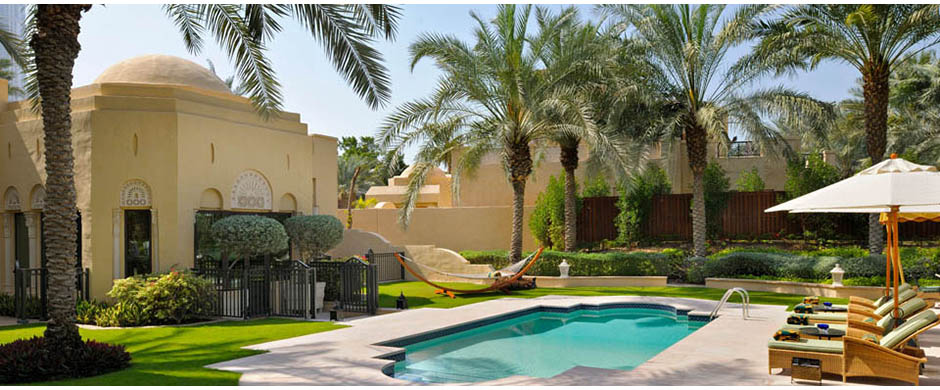 Residence spa of the one only royal mirage dubai for Garden pool dubai